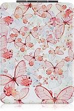 Духи, Парфюмерия, косметика Зеркало косметическое длинное, белое с бабочками - Lily Cosmetics