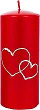 Духи, Парфюмерия, косметика Декоративная свеча красная, 7х17см - Artman Forever