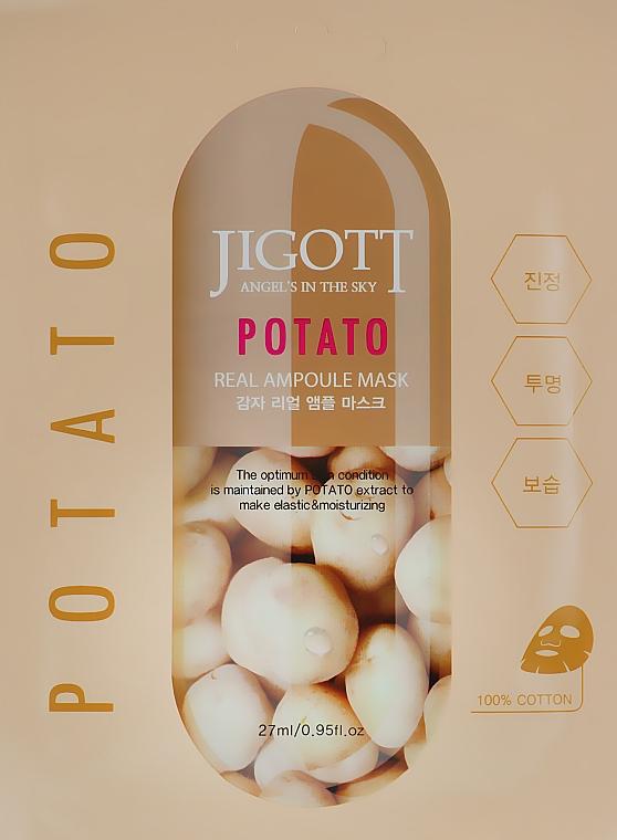 """Ампульная маска """"Картофель"""" - Jigott Potato Real Ampoule Mask"""