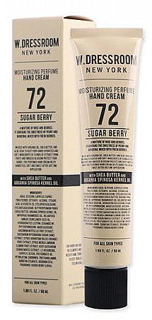 W.Dressroom Moisturizing Perfume Hand Cream No.72 Sugar Berry - Парфюмированный крем для рук