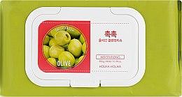 Очищувальні серветки для обличчя - Holika Holika Daily Fresh Olive Cleansing Tissue — фото N1