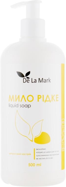 """Жидкое мыло для рук """"Цитрусовое настроение"""" - De La Mark"""