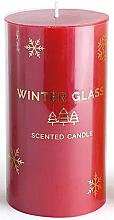 Духи, Парфюмерия, косметика Ароматическая свеча, красная, 9х13см - Artman Winter Glass