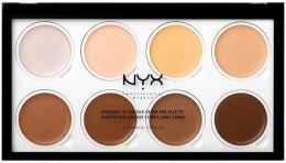 Духи, Парфюмерия, косметика Кремовая палетка для контурирования лица - NYX Professional Makeup Highlight & Contour Cream Pro Palette