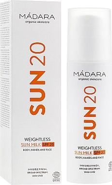 Ультралегкое солнцезащитное молочко - Madara Cosmetics Sun20 Weightless Sun Milk SPF20