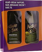 Духи, Парфюмерия, косметика Набор - Nature Box Olive Oil Set (shmp/385ml + cond/385ml)