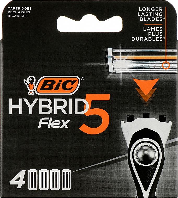 Сменные кассеты для бритья Flex 5 Hybrid, 4шт - Bic