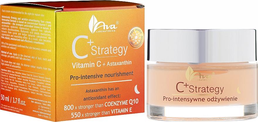 Ночной крем для лица с витамином С - Ava Laboratorium C+ Strategy Pro-intensive Nourishment Face Cream