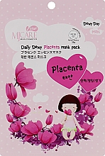 Духи, Парфюмерия, косметика Тканевая маска с плацентой - Mj Care Daily Dewy Placenta Mask Pack