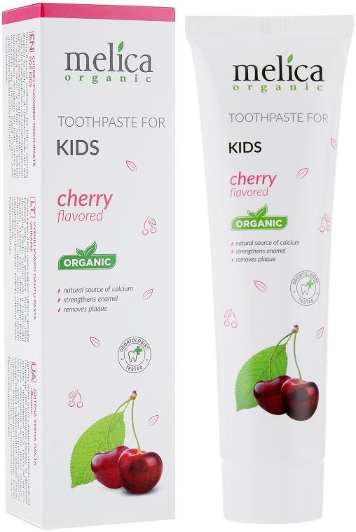 Детская зубная паста со вкусом вишни - Melica Organic