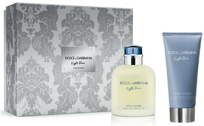 Dolce & Gabbana Light Blue Pour Homme - Набор (edt/75ml + ash/balm/75ml)