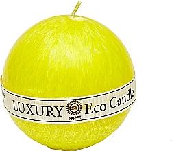 Духи, Парфюмерия, косметика Свеча из пальмового воска, 8 см, желтая - Saules Fabrika Luxury Eco Candle