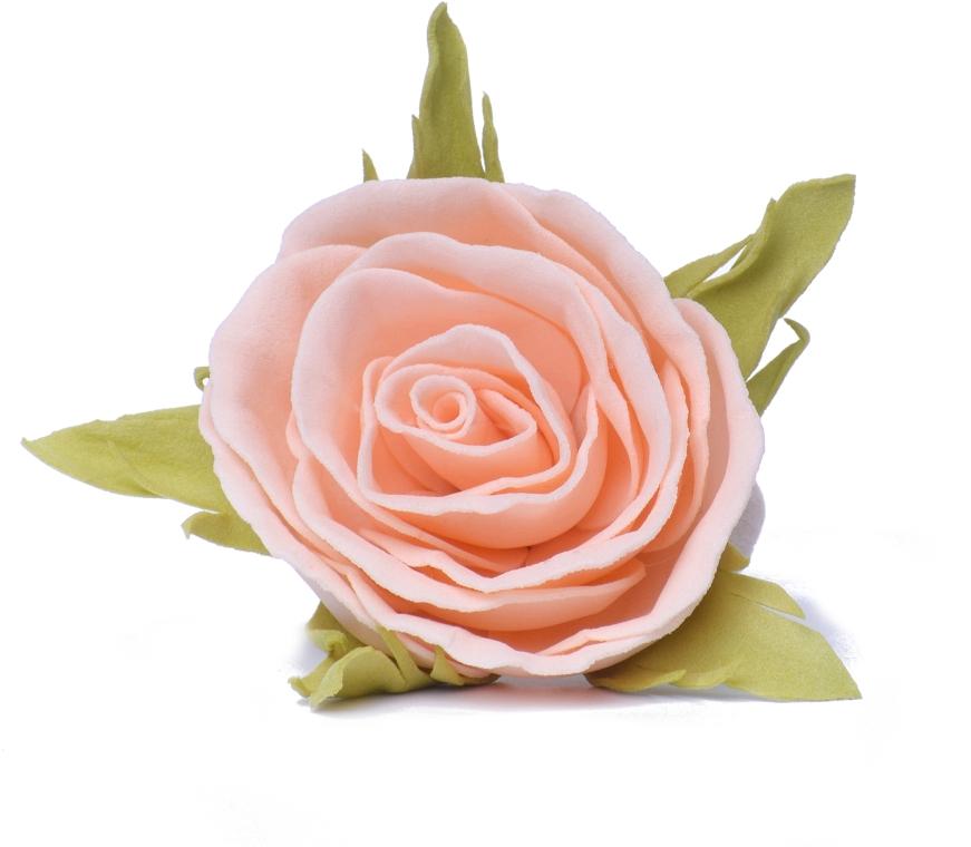 """Резинка для волос """"Персиковая роза"""", маленькая - Katya Snezhkova"""