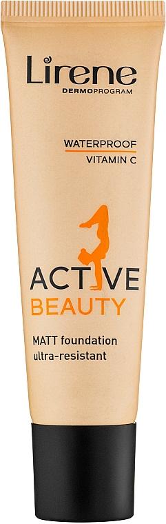 Тональный крем - Lirene Active Beauty Matt Foundation Ultra-Resistant