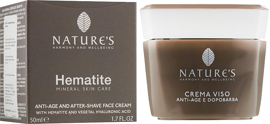 Крем после бритья омолаживающий - Nature's Hematite Antiage & Aftershave Face Cream