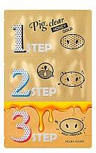 Духи, Парфюмерия, косметика Набор средств для очистки пор - Holika Holika Pig Nose Clear Black Head 3-Step Kit Honey Gold