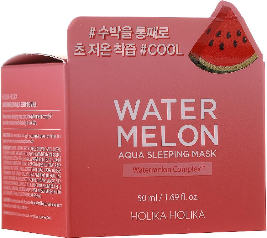 Увлажняющая ночная маска с экстрактом арбуза - Holika Holika Water Melon Aqua Sleeping Mask