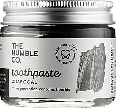 Духи, Парфюмерия, косметика Натуральная зубная паста реминерализующая в стеклянной банке «С активированным углем» - The Humble Co. C harcoal Toothpaste