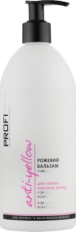 """Бальзам для волос """"Розовый"""" для теплых оттенков блонд - Profi Style Anti-Yellow Pink Balsam"""