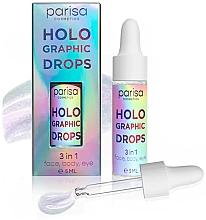 Духи, Парфюмерия, косметика Голографические капли-блестки HD-01 - Parisa Holographic Drops