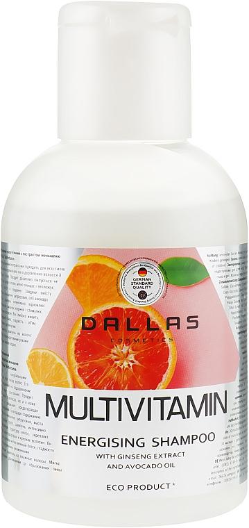 Мультивитаминный энергетический шампунь с экстрактом женьшеня и маслом авокадо - Dallas Cosmetics Multivitamin