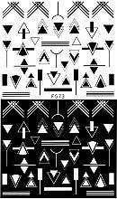 Парфумерія, косметика Водні наклейки для нігтів, F - Vizavi Professional