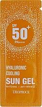 Духи, Парфюмерия, косметика Увлажняющий солнцезащитный гель с гиалуроновой кислотой - Deoproce Hyaluronic Cooling Sun Gel SPF50/PA+++ (пробник)