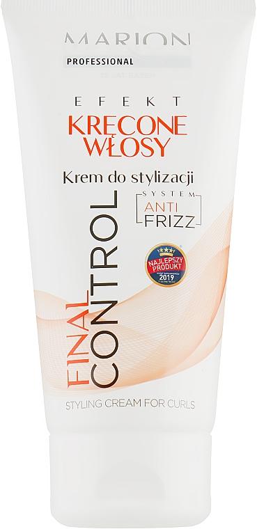 Крем для укладки кудрявых волос - Marion Professional Final Control Hair Styling Cream