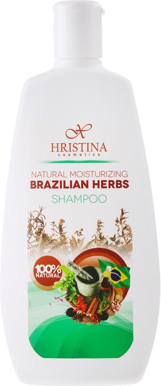 """Шампунь увлажняющий """"Бразильские травы"""" - Hristina Cosmetics Brazilian Herbs Shampoo"""