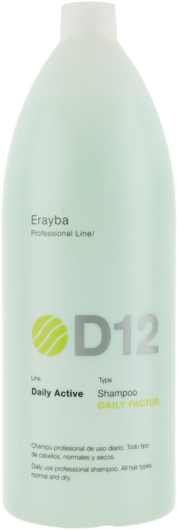 Шампунь для всех типов волос - Erayba D12 Daily Factor Shampoo