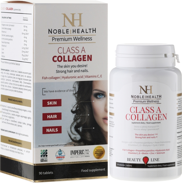 Комплекс для ухода за телом, лицом и волосами - Noble Health Collagen Class A