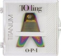 Духи, Парфюмерия, косметика Инструмент для удаления жесткой кромки пилочек - O.P.I. Tooling Fileedger Titanium