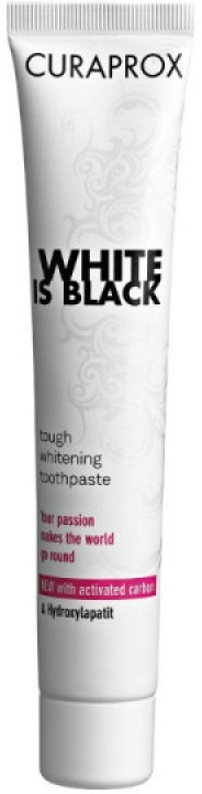 Зубная паста с активированным углем, белая - Curaprox Black Is White