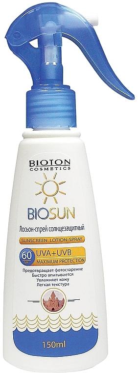 Солнцезащитный лосьон-спрей SPF 60 - Bioton Cosmetics BioSun