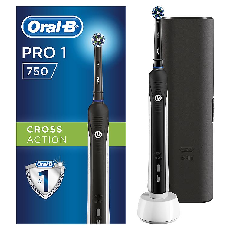 Электрическая зубная щетка - Oral-B Pro 750 Black Edition