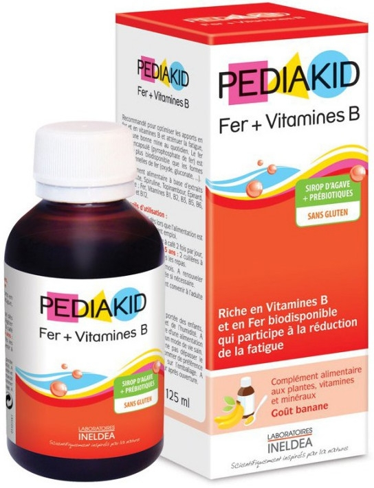 Pediakid Fer + Vitamines B Sirop - Сироп для преодоления ...