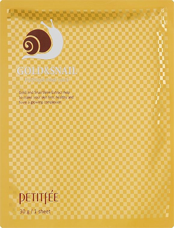Гидрогелевая маска для лица с золотом и улиткой - Petitfee&Koelf Gold & Snail Hydrogel Mask Pack