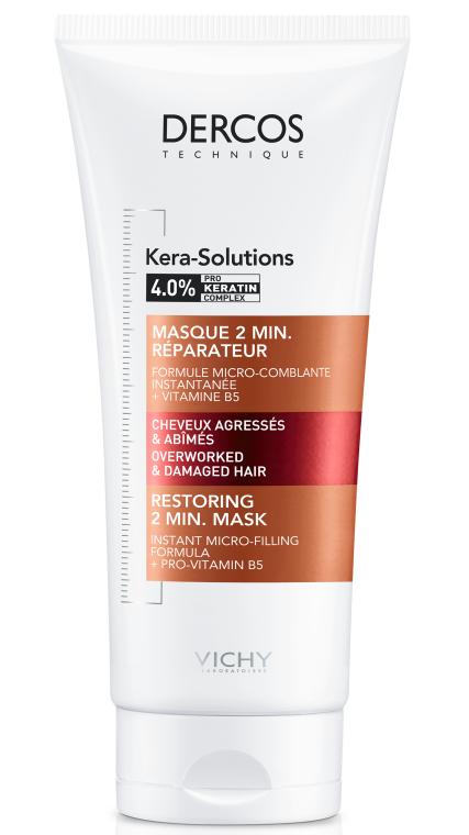 Восстанавливающая 2-минутная маска для реконструкции поверхности поврежденных ослабленных волос - Vichy Dercos Kera-Solutions Restoring 2 min. Mask