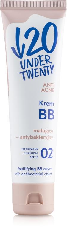 Матирующий антибактериальный ВВ крем - Under Twenty Anti! Acne Mattifying Cream