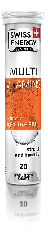 """Витамины шипучие """"Мультивитамины+биотин"""", 20 таблеток - Swees Energy Multi Vitamins+Biotin"""