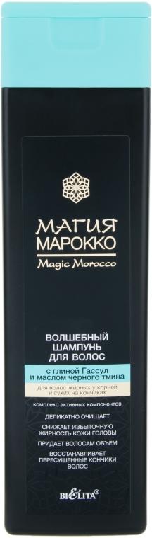 Волшебный шампунь с глиной Гассул и маслом черного тмина - Bielita Магия Марокко