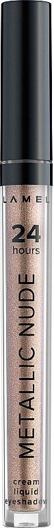 Жидкие тени для век - Lamel Professional Metallic Nude