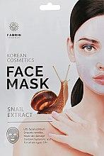 Духи, Парфюмерия, косметика Маска гидрогелевая для лица с экстрактом улитки - Fabrik Cosmetology SnailExtract Face Mask