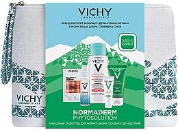 Парфумерія, косметика Комплексний набір-догляд - Vichy Normaderm (gel/50ml + fluid/3ml + micel/water/100ml + gel/boost/10ml + shmp/6ml + bag)