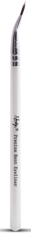 Кисть для подводки EB-01 - Nanshy Precise Bent Eyeliner Brush Pearlescent White