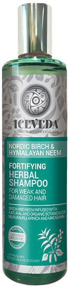 Шампунь для волос - Iceveda Nordic Birch&Hymalayan Neem Fortifying Herbal Shampoo