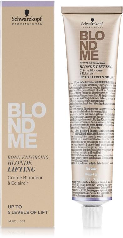 Осветляющий крем для светлых волос - Schwarzkopf Professional BlondMe Blonde Lifting — фото N1