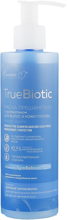 Маска-прешампунь для волос и кожи головы с пробиотиком - Белита-М TrueBiotic Probiotic Pre Shampoo Hair And Sclap Mask