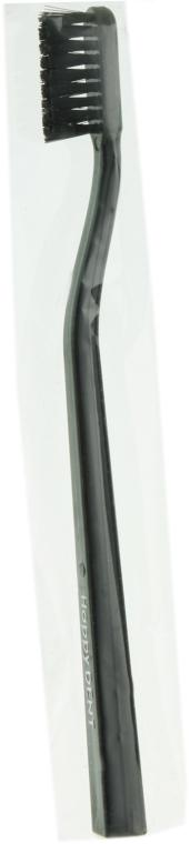 Зубная щетка средней жесткости в картонной упаковке, черная - Happy Dent