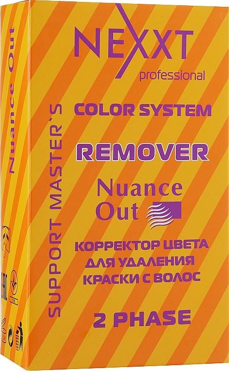 Эмульсия-лосьон корректор цвета для удаления краски с волос - Nexxt Professional ColorSystemRemover Nuance Out